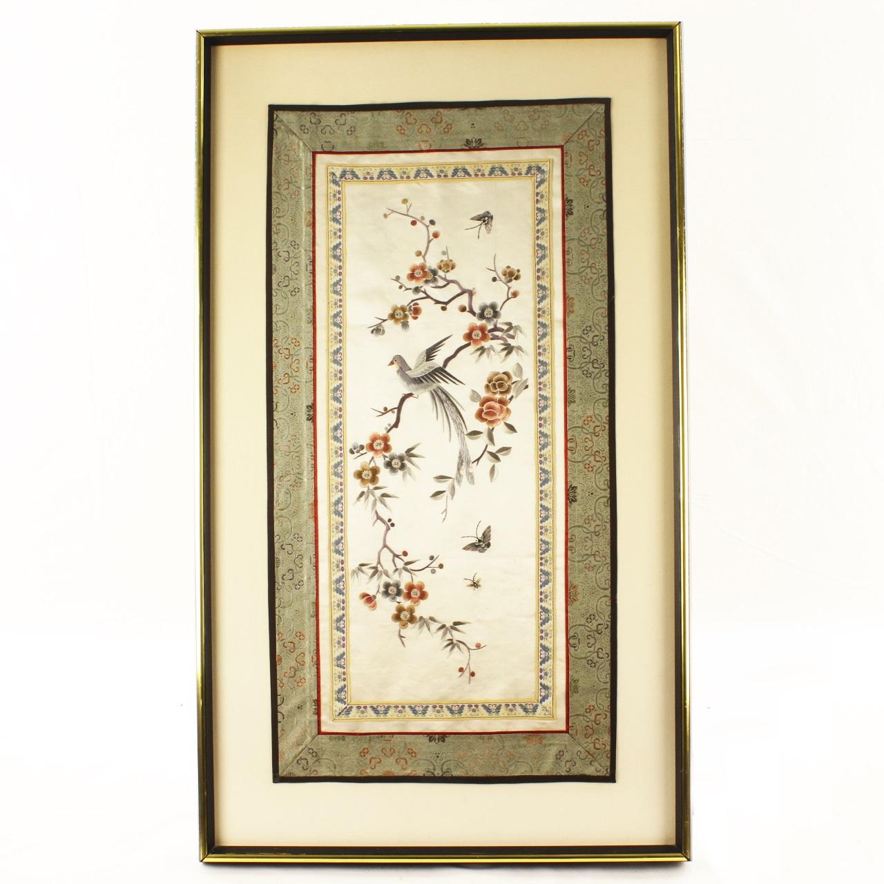 19th C. Chinese Silk Robe Panel